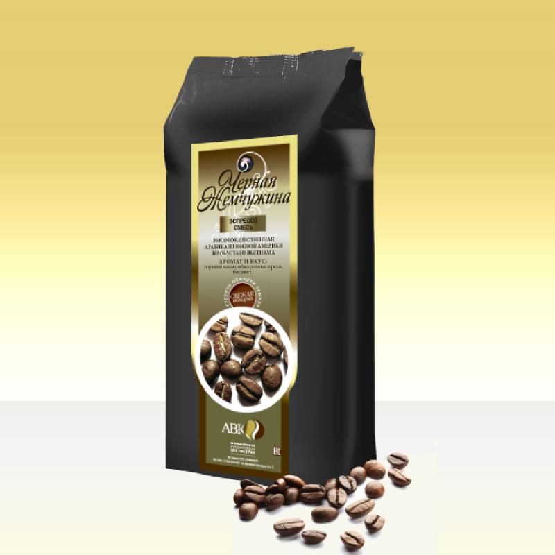 Зерновой кофе Чёрная жемчужина