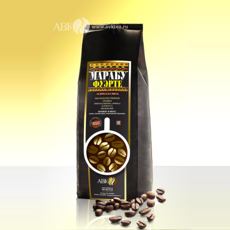 Зерновой кофе Марабу Фуэрте