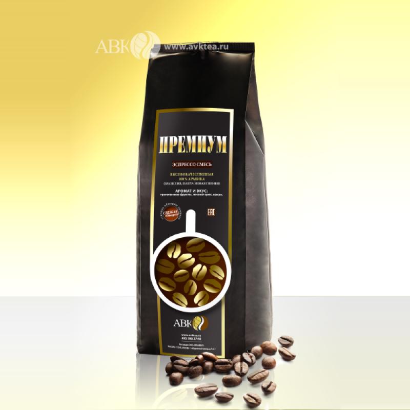 Зерновой кофе Эспрессо-смесь ПРЕМИУМ
